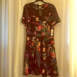 Fashion to Figure- mesh floral fit & flare- size 2
